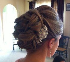 Bridal Hair   Hairstyle   Elegant   Formal   Brunette   Highlights   Updo   Pretty   Fancy