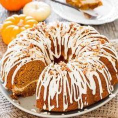 Pumpkin Bundt w/cheese cake pecan filling