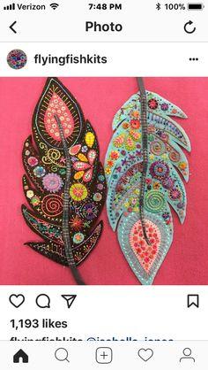 Wool Applique Patterns, Felt Patterns, Felt Applique, Felted Wool Crafts, Felt Crafts, Wool Embroidery, Embroidery Stitches, Felt Fabric, Fabric Art