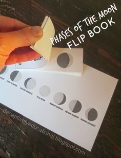 Relentlessly Fun, Deceptively Educational: Phases of the Moon Flip Book (free pr. - The Best Space Activities Ideas For Kids 8th Grade Science, Middle School Science, Elementary Science, Science Classroom, Teaching Science, Science Education, Physical Education, Montessori Education, Moon Activities