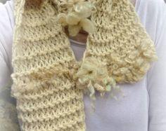 soft hand knit scarf alpaca scarf - gentlest journey