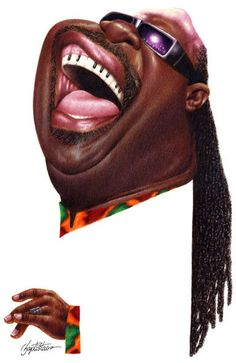 STEVIE WONDER - Funny caricatures of celebrities