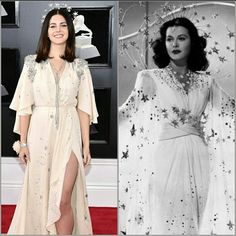 5d5a1e796f Channeling Hedy Lamarr vibes tonight at the red carpet at the 60th Grammy  Awards Ceremony