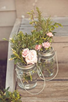 Mason Jar Flower Frog LIDS - Set of 12 - Upcycled DIY Flower Arrangers or Potpourri Lids - Wedding Bouquet or Centerpiece, Woodland, Shabby. $38.00, via Etsy.