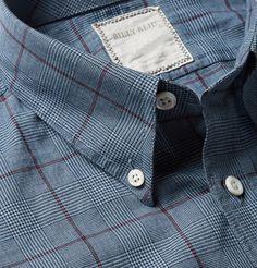 Billy ReidButton-Down Collar Prince of Wales Check Cotton Shirt