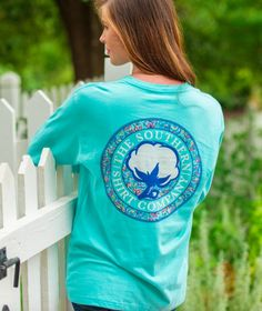 Southern Shirt Company Paisley Logo Long Sleeve Tee- Chalky Mint