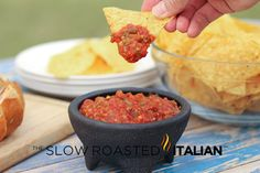 """Roasted Tomato and Serrano Salsa.  WHIT'S THOUGHTS:  Not that good.  I think the roasting somehow lessened the flavors if that's possible.  I like the """"chili's copycat recipe"""" that I adjusted much better."""