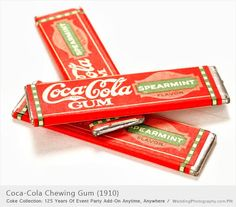 Coca-Cola Chewing Gum (1910) | This is a Coca-Cola chewing gum that was produced in 1910. | Coca-Cola Collection: 125 Years of Event Party Add-On Anytime, Anywhere