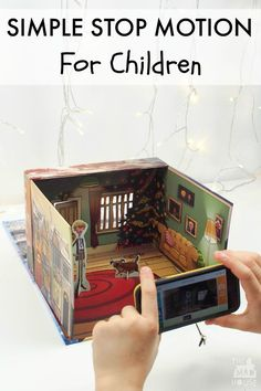 This could be good for video modeling. How to make a simple stop motion video with kids. Stop motion has great benefits for kids as it is so accessible and fun to make. Fun Crafts, Crafts For Kids, Arts And Crafts, Animation Image Par Image, Projects For Kids, Art Projects, Child Plan, Animation Stop Motion, Baby Kind