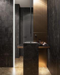 "Guest Bathroom in the project ""Modern Elegance"" by Ab-architects Modern Master Bathroom, Boho Bathroom, Minimalist Bathroom, Small Bathroom, Bathroom Towels, Lowes Bathroom, Bathroom Wall, Bathroom Window Treatments, Window In Shower"