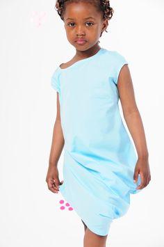 BOdeBO kids fashion SUMMER 2014 KUZA DRESS Short dress, mini fitted sleeves, draped volume on both sides ,asymmetrical scoop neckline