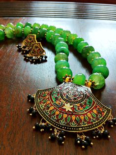 Meenakari Pendant Necklace