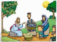 JESUS PASA X AQUI: multiplicacion de los panes y los peces