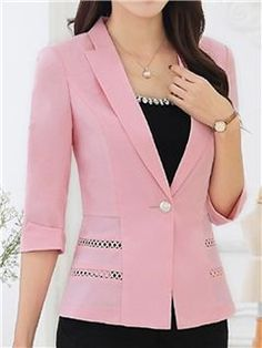 Armani Collezioni Wool Crepe Jacket available to buy at Harrods. Luxury shopping with Free Returns on UK orders. Casual Blazer Women, Blazers For Women, Suits For Women, Jackets For Women, Blouse Styles, Blouse Designs, Pink Blazer Outfits, Stylish Work Outfits, Womens Dress Suits