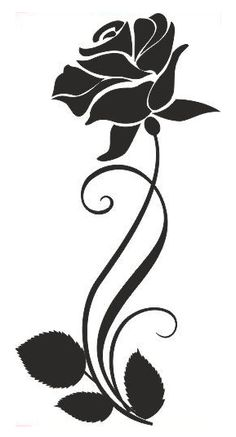 Rosa Stencil, Stencil Painting, Fabric Painting, Stencil Templates, Stencil Patterns, Stencil Designs, Glass Etching Stencils, Doodle Drawing, Glass Engraving