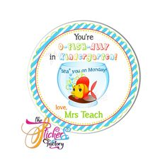 Personalized Back to School tag- Available as Stickers- Card paper Tags or Digital File O Fish Ally, Birthday Thank You, Personalized Tags, Thank You Tags, Paper Tags, Back To School, Printables, Stickers, Digital