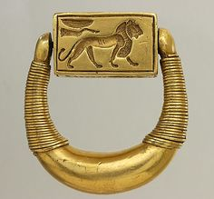 Signet ring of Horemheb, the last pharaoh of the 18th Dynasty of Egypt. Louvre Museum, Paris