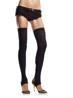 ebe63f66dec0 Leg Avenue Stockings 6310 Thigh-high stockings in opaque black with  reinforced band on upper