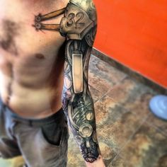 biomechanical+tattoos+designs,