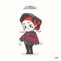 Exo Cartoon, Cartoon Fan, Baekhyun Fanart, Kpop Fanart, Kyungsoo, Kaisoo, Exo Anime, Exo Kokobop, Exo Fan Art