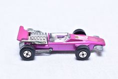 Matchbox Lesney Superfast No. 34 Formula One Race Car Hot Pink 1970 Original Vintage Die Cast Toy Car by RememberWhenToys on Etsy