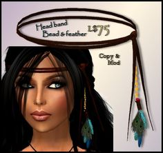 DIY head band feather.