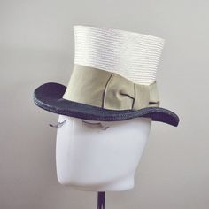 straw top hat with bow
