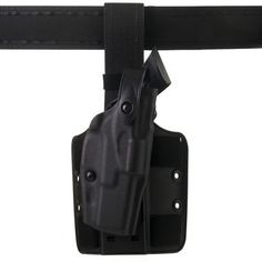 This 6304 holster features the Automatic Locking System (ALS®). It locks the weapon in all directions upon holstering, it's operable with the thumb, and the weapon can be drawn straight out of the holster with no twisting required.