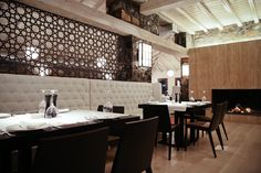 Restaurant & Bar : nice patterned divider