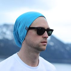 A personal favorite from my Etsy shop… Hipster Beanie, Spring Weather, Slouchy Beanie, Hipsters, Blue Fabric, Looks Great, Bright, Etsy Shop, Mens Fashion