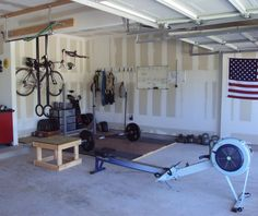 I want a Garage Gym like this, this pic need a punching bag (for days when someone pisses me of) and a treadmill cause my knee can't take free runs anymore.