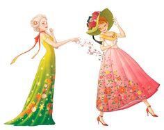 if Elsa is spring. Disney Dream, Disney Style, Disney Love, Disney Magic, Anna Frozen, Frozen Art, Disney Frozen, Disney Nerd, Disney Marvel