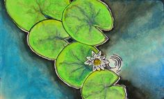 Water Lilly in a Moleskine Watercolor Notebook.
