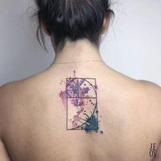 Golden ratio tattoo design by Yeliz Ozcan