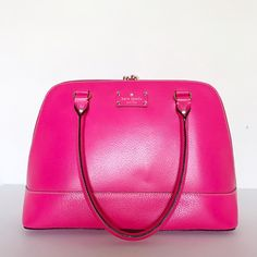 d9615b1494 Selling this Kate Spade Neon Pink Handbag on Poshmark! My username is   allglammedup.