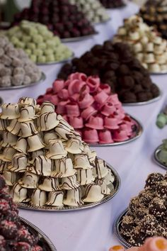 Handmade bonbons from the Sweet Days Festival in Budapest, Hungary. We want to go to the next Sweet Days Festival. How delicious would that be!