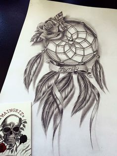 family dreamcatcher tattoo design - Tattoo ideen - Tattoo Designs For Women Dream Catcher Sketch, Dream Catcher Tattoo Design, Dream Catcher Art, Beautiful Dream Catchers, Family Tattoo Designs, Family Tattoos, Mom Tattoos, Body Art Tattoos, Celtic Tattoos