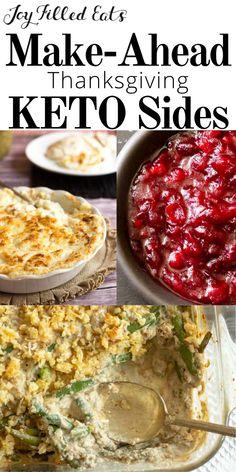 Make Ahead Thanksgiving! Keto, Low Carb, & THM Recipes