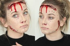Pin for Later: 42 of the Best British Blogger Halloween Makeup Tutorials ItsSimplyBeauty — Plastic Surgery Gone Wrong