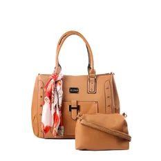 Elena X-11012 Shoulder Bag with Sling Bag (Khaki)
