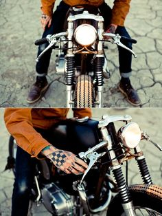 I think I'm in <3......shoe's, cuffed jeans, burnt orange shirt, tats, and moto!