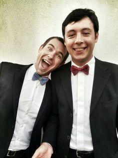 Wearing Popties bow ties at a wedding is a big joy!