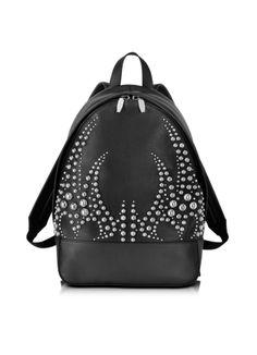 Alexander Wang Black Soft Plebbed & Studded Leather Bookbag