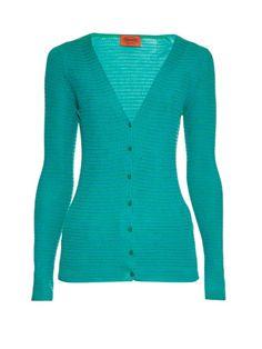 MISSONI Striped Knit Button-Down Cardigan. #missoni #cloth #cardigan