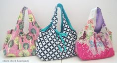 chick chick sewing: Sewing bags for friends and family