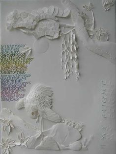 Original paper sculpture & calligraphy artwork by Dave Wood. More of Dave's original artworks can be viewed http://davewood.com.au/gallery