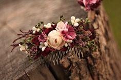Haarkammen - Bloem haar kam, haarkam bruiloft - Een uniek product van evafleur op DaWanda