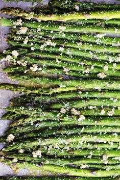 8 Tasty Spring Vegetable Recipes: roasted lemon parmesan and garlic asparagus