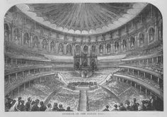 The Sylver Zone is pleased to offer:  An antique illustration of the Interior of the Albert Hall, C1890 book print.  This 6.5 x 4.5 illustration is in