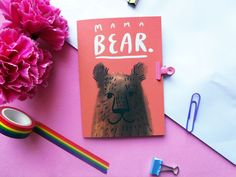 The perfect card for all the mama bears out there! Show appreciation to your mums or mother figures with this adorable illustrated bear card from Sophie Heywood Illustration. www.etsy.com/uk/listing/672143632/mama-bear-a6-greetings-card #etsymcr #mothersday Retro Christmas, Christmas 2019, Bear Card, Show Appreciation, 10 December, Pink Envelopes, Boxing Day, Mothers Day Cards, Pastel Pink